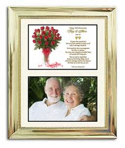 gift ideas for 50th wedding anniversary 50th wedding anniversary gift in gold 8x10 frame