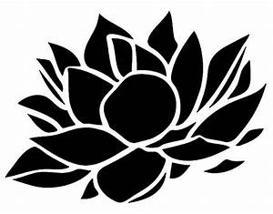 Stencil Floral Lotus Flower Stencil Decoration 5 Sizes Svg Pdf