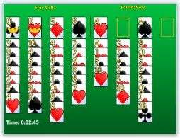 line Freecell Solitaire Card Game