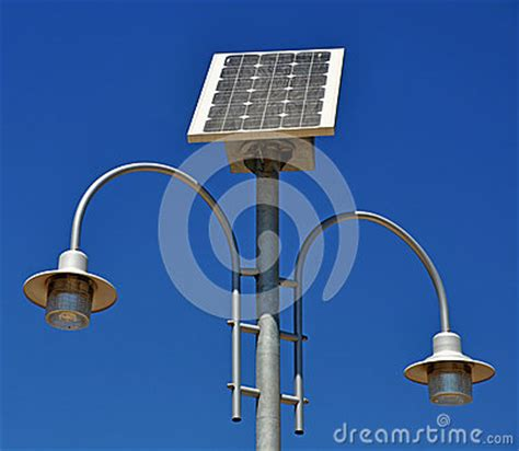 solar powered l post royalty free stock photos image