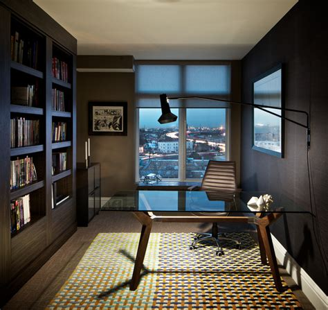 lohi condo contemporary home office denver