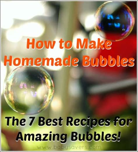 how to make bubbles the bubbles recipes