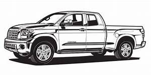 Automotive illustration. Black and white illustration.
