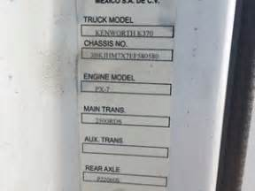 kenworth vin numbers kenworth cab parts tpi