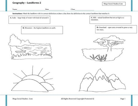 landforms worksheet 2 homeschooling earth science