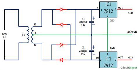 Dual Power Supply Circuit Diagram Electronic