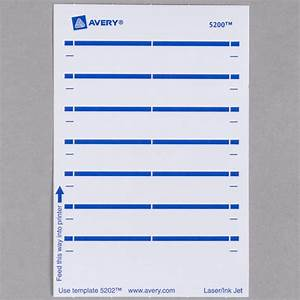 avery 5202 11 16quot x 3 7 16quot white rectangular write on With avery 5202 label template
