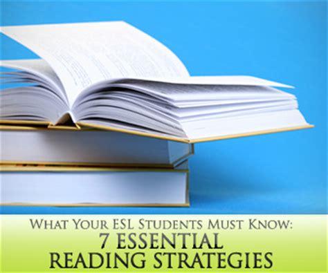 essential reading strategies  esl students