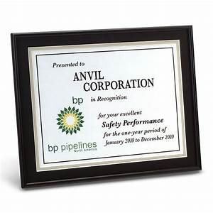 wood finish plaque w gold border slide in certificate With slide in certificate plaque and document holder