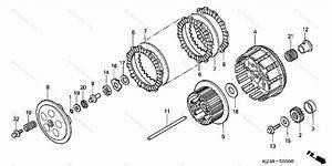 Honda Motorcycle 2003 Oem Parts Diagram For Clutch