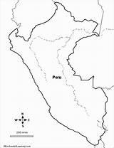 Flag Coloring Peruvian Peru Outline Duathlongijon sketch template