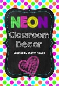 37 best NEON Classroom Theme images on Pinterest