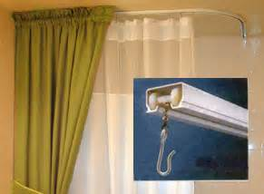 ceiling mount shower curtains can be stabilized for safety