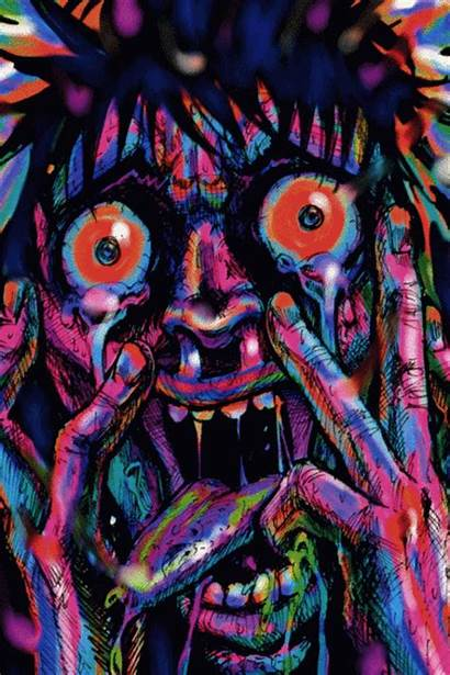 Hippie Trippy Acid Trip Psychedelic Scary Lsd