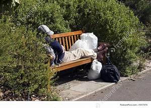 Street Life: Destitute On A Park Bench - Stock Image ...