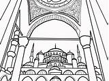 Mosque Coloring Pages Getdrawings Colorings sketch template