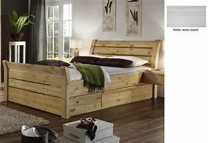 Bett 180x200 Massivholz Komforthöhe : bettgestell 180 200 mit schubladen ~ Bigdaddyawards.com Haus und Dekorationen
