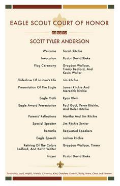 eagle scout court of honor program template 1000 images about eagle scout on eagle scout eagle scout ceremony and scouts