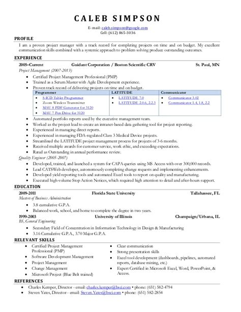 Sle Certified Scrum Master Resume by Scrum Master Resume Out Of Darkness