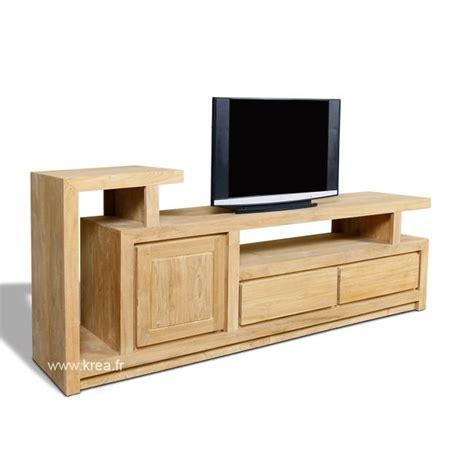 Meuble Tv En Teck 1 Portes, 2 Tiroirs, 180 Cm Achat