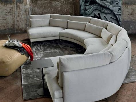 semi circular leather sofa semi circular sofas half circle sectional sofa price round