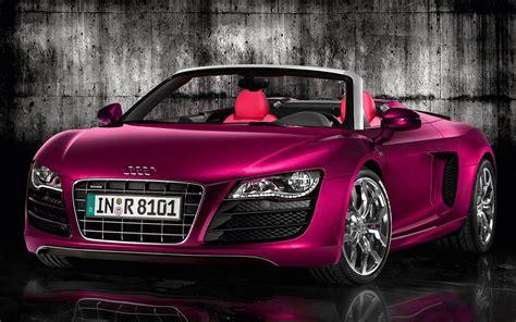 Pink Audi R8 Spyder #carflash #fightbreastcancer. I Will
