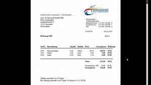 Online Metzgerei Versand Auf Rechnung : rechnungsprogramm software zum rechnungen schreiben pdf online rechnung kassenbuch youtube ~ Themetempest.com Abrechnung