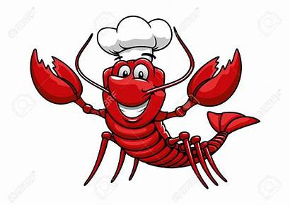 Lobster Cartoon Clip Chef Happy Clipground Character