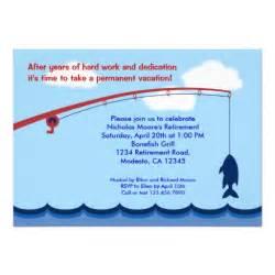Fishing Retirement Party Invitations