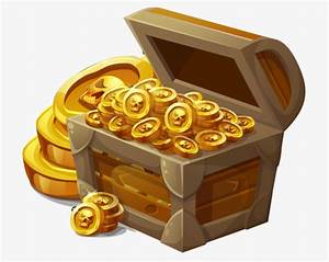 Cofre Del Tesoro, Oro, Dinero, Moneda Archivo PNG y PSD para descargar gratis