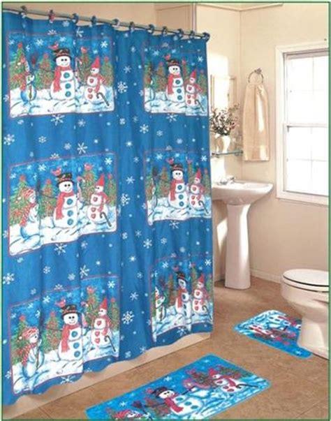 snowmen 4pc shower curtain bathroom set