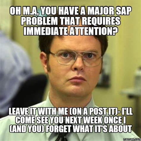 Sap Memes - image gallery sap problems