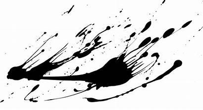 Paint Ink Splash Splatter Drip Drop Noir