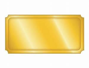 Top Blank Golden Ticket Template Design