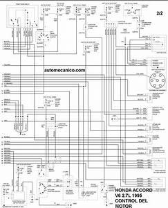 Honda Diagramas Control Del Motor 1995 Accord  Civic