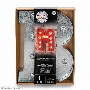 Lettre Metal Vintage : lettre lumineuse en m tal vintage 25 x 19 x 4 5 cm lettre lumineuse led creavea ~ Teatrodelosmanantiales.com Idées de Décoration
