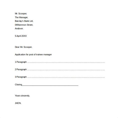 formal letter template word 30 sle formal business letters format sle templates