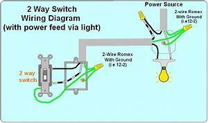 - 2 Way Light Switch Wiring Diagram