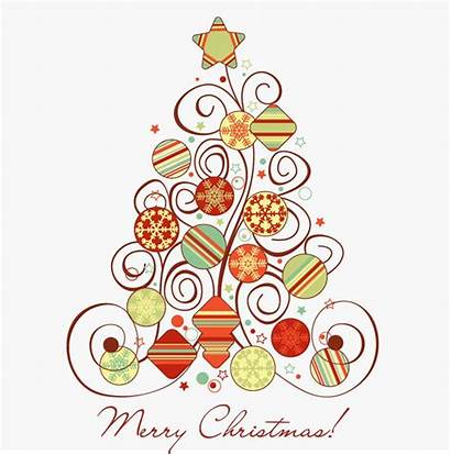 Christmas Graphic Swirl Tree Vector Floral Graphics