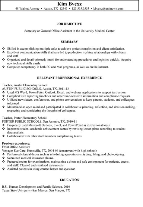 resume for school office assistant school resume sle free resumes tips