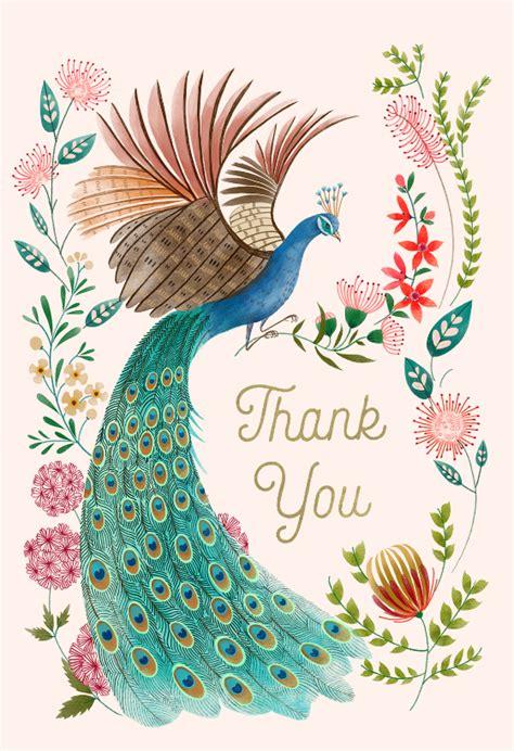 peacock flowers   card template  island