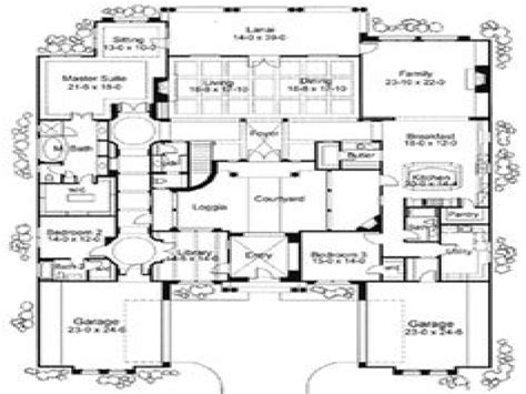 home plans with courtyard mediterranean house floor plans mediterranean house plans