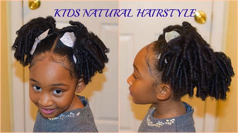 kids natural hairstyles  curly puffs quick  easy