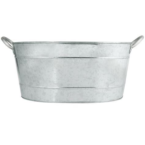 galvanized drink tub tablecraft bt1914 oval galvanized steel beverage tub 19