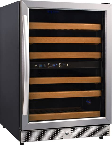 eurodib mh 54dz dual temp thermoelectric wine beverage cooler refrigerator cabinet