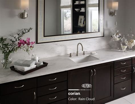 Corian Vs Granite Bathroom Countertops by Corian Cloud Countertop Tile Countertop