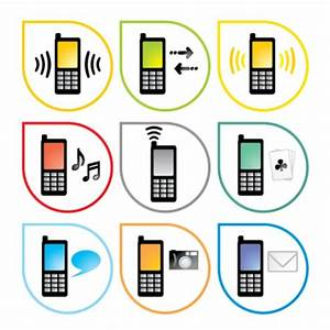 mobile phone style vector icon Vector   Free Download