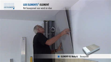 lux elements montage bouwplaat element als egalisatie