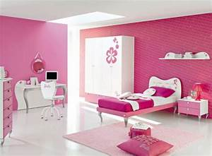 Design white and pink bedroom for teen decoseecom for Best bedroom interior design for girls
