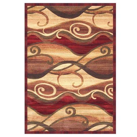 sams area rugs sams international essentials waves rust 7 ft 9 in x 10